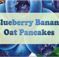 Blueberry Banana Oat Pancakes – Beveled Icon