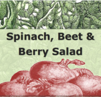 Spinach, Beet and Berry Salad – Beveled Icon