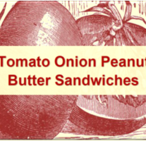 Tomato Onion Peanut Butter Sandwiches – Beveled Icon